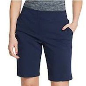 Jack Nicklaus Navy Golf Shorts w Gold Bear NEW